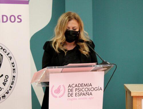 Mª Paz García Vera nombrada Académica de Número de la Academia de Psicología de España